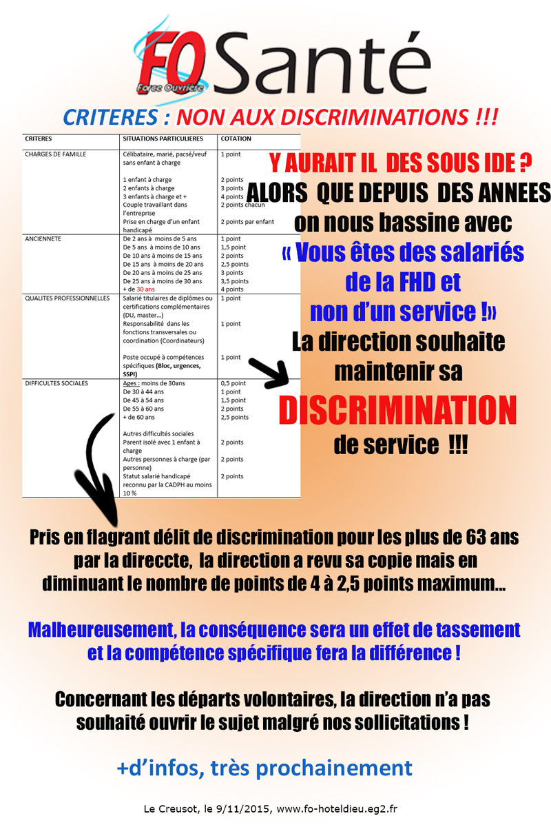 criteres de licenciements